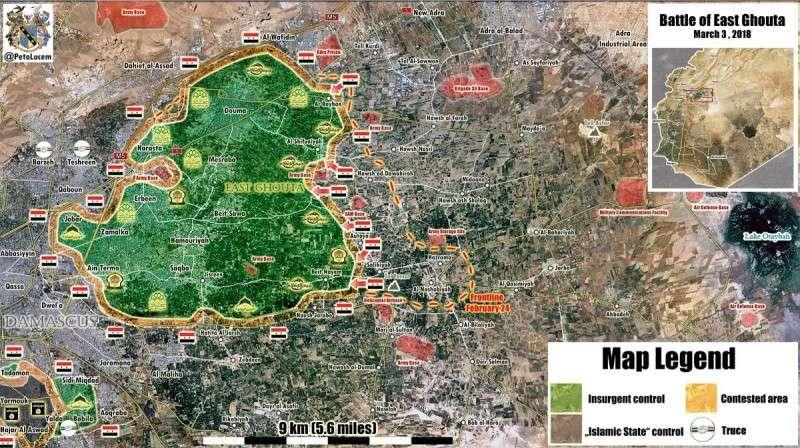 Сирия. Наёмники США потреряли четверть Восточной Гуты