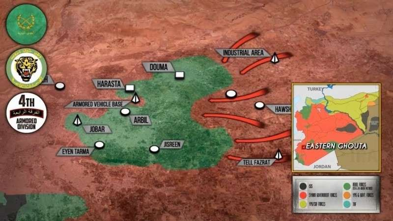 Сирия. Оборона наёмников США в Восточной Гуте прорвана, армия стремительно наступает!