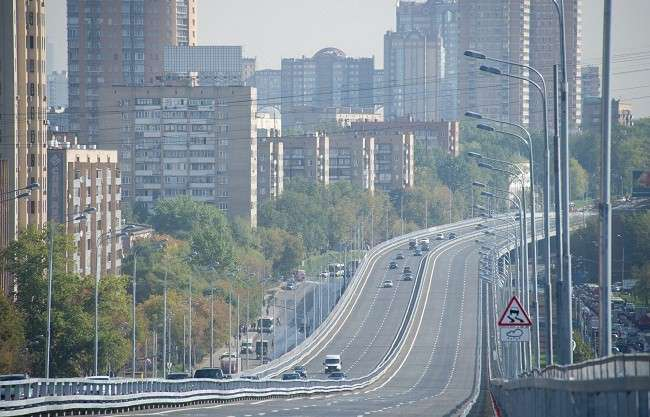 Открыта самая длинная эстакада в Европе на Можайском шоссе в Москве