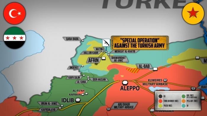 Сирия, Африн. Оборона курдов разваливается под ударами Турок