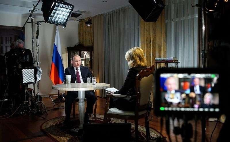 Интервью журналисту американского телеканала NBC Мегин Келли.