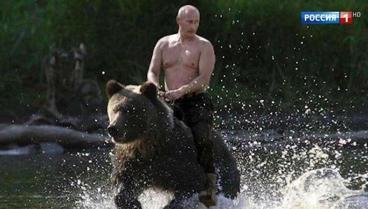Владимир Путин рассказал о фотографии, где он скачет на медведе