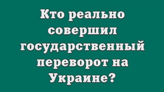 Кто совершил государственный переворот на Украине в 2014 году?