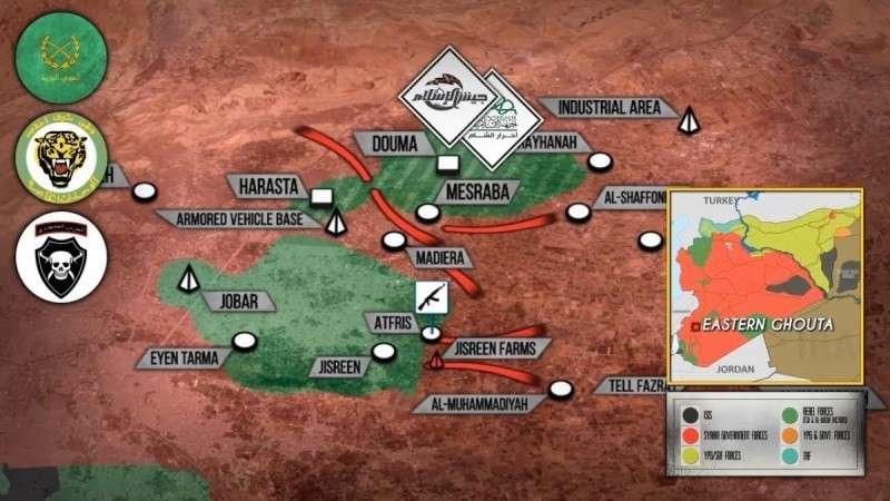 Сирия. Правительственная армия добивает наёмников США в Восточной Гуте