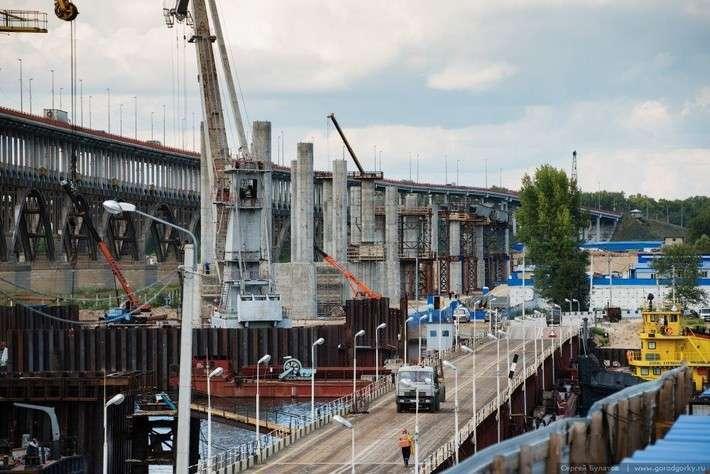 Строительство третьего моста через Волгу в Нижнем Новгороде