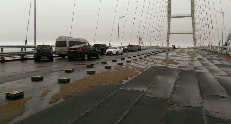 На Крымском мосту ждут Владимира Путина