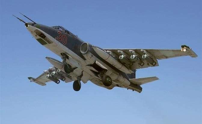 На фото: российский штурмовик Су-25СМ