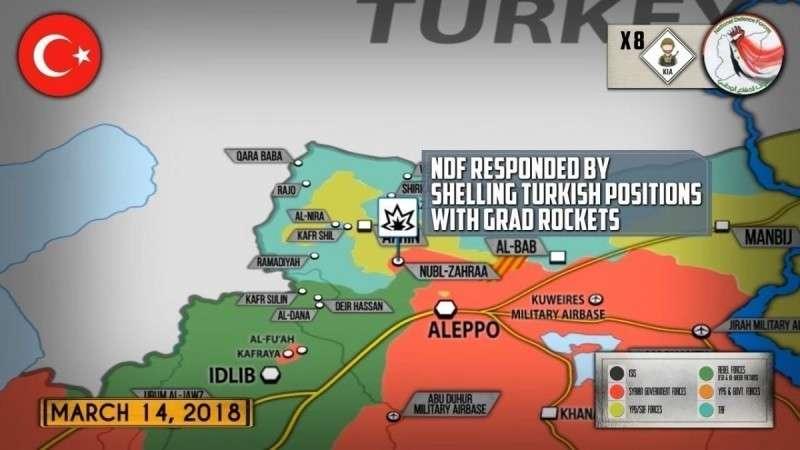 Сирия. Турецкая армия напала на сирийские правительственные формирования