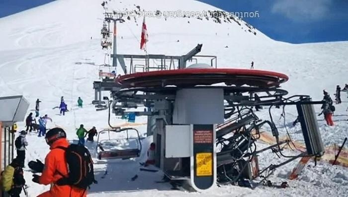 В Грузии туристы прыгали с аварийной канатной дороги чтобы спасти