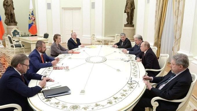 Встреча Владимира Путина с кандидатами, баллотировавшимися на выборах Президента России
