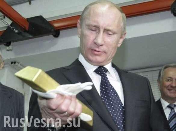 Золотой запас России растёт максимальными темпами за последние 12 лет | Русская весна