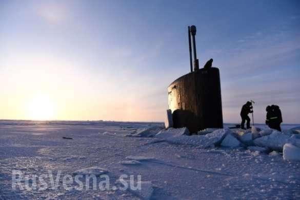 Подлодки ВМС США застряли во льдах Арктики во время отработки ядерного удара по России | Русская весна