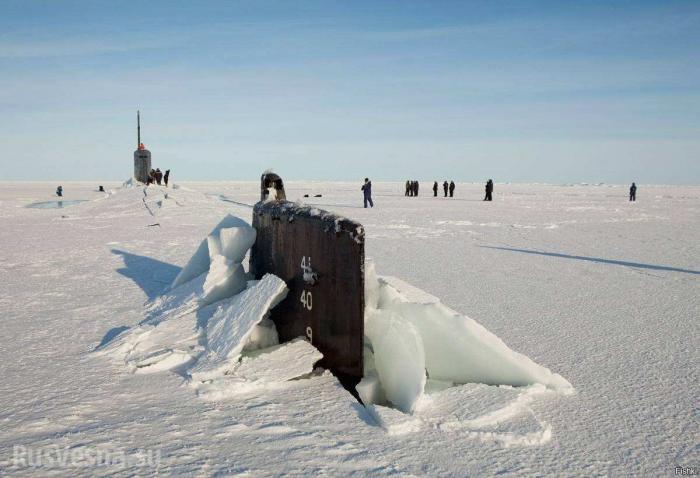 Подлодки ВМС США застряли во льдах Арктики во время отработки ядерного удара по России