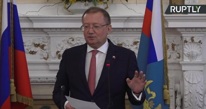 Посол России в Англии А. Яковенко проводит пресс-конференцию по делу отравления Скрипаля