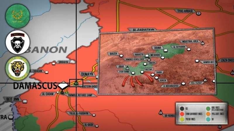 Сирии. 1,5 тыс. наемников США покидают Восточную Гуту