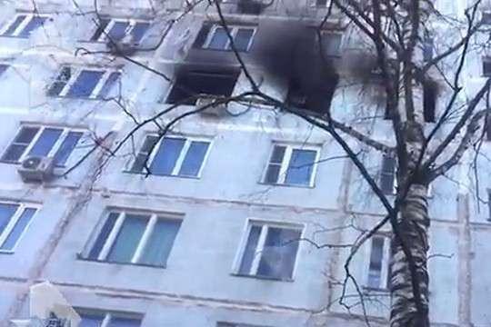 Москва. В жилом доме прогремел взрыв
