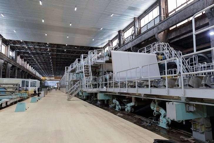 На Алексинской бумажно-картонной фабрике модернизирована производственная линия Хорошие, добрые, новости, россия, фоторепортаж