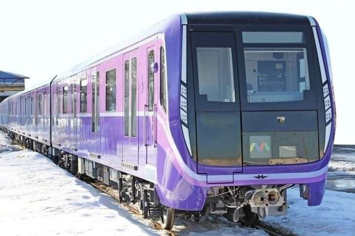 Первый поезд метро модели 81-765/766 для Баку Хорошие, добрые, новости, россия, фоторепортаж