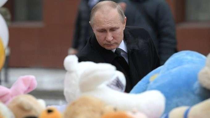 Владимир Путин почтил память погибших при пожаре вКемерове