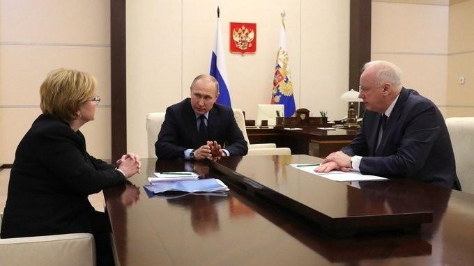 Владимир Путин провёл встречу сАлександром Бастрыкиным иВероникой Скворцовой