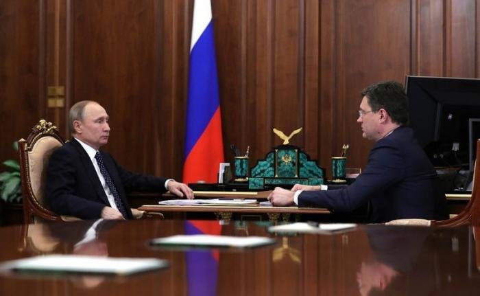 Встреча Владимира Путина сМинистром энергетики Александром Новаком