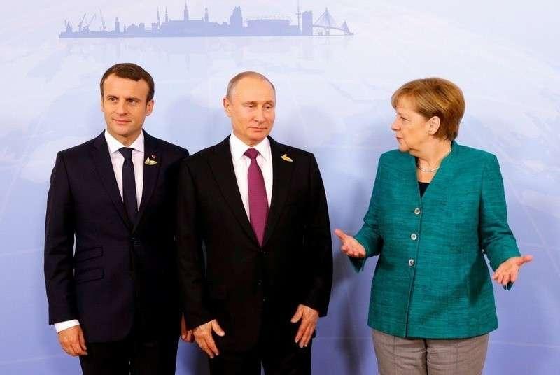 Владимир Путин, Ангела Меркель, Эммануэль Макрони Петро Порошенко сделали заявление