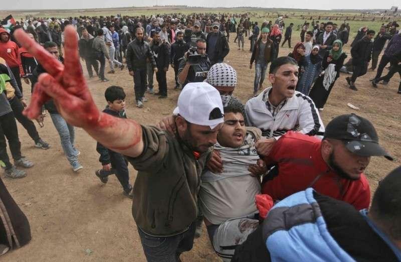 В День земли израильские террористы убили 16 палестинцев и около 1500 ранено