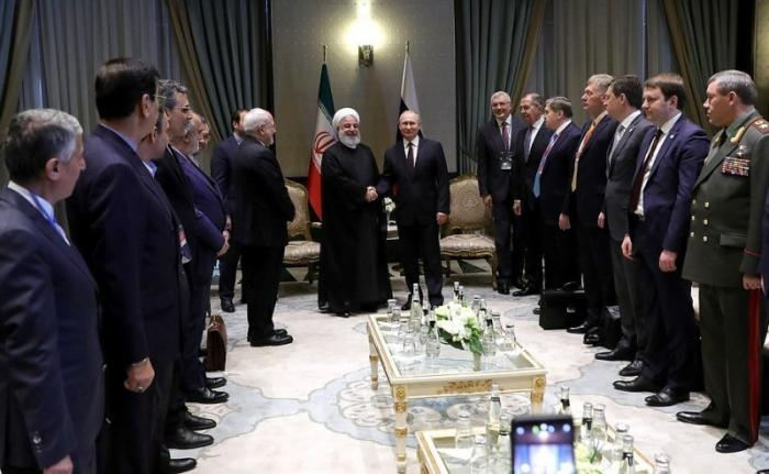 Беседа Владимира Путина сПрезидентом Ирана Хасаном Рухани