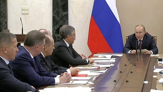 Владимир Путин провёл заседание Совета Безопасности по укреплению рубежей России