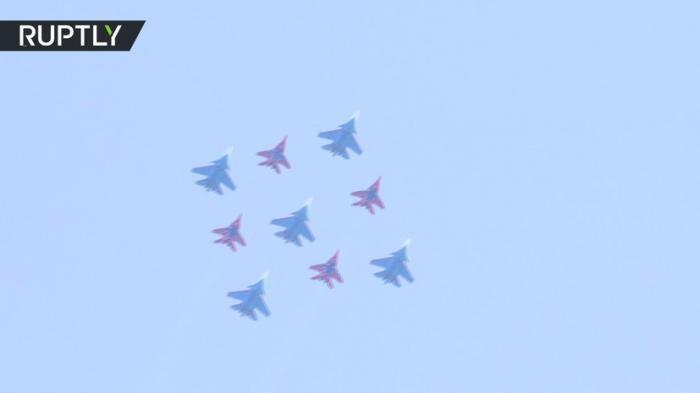 На подмосковном аэродроме Кубинка прошла репетиция воздушной части парада Победы – 2018