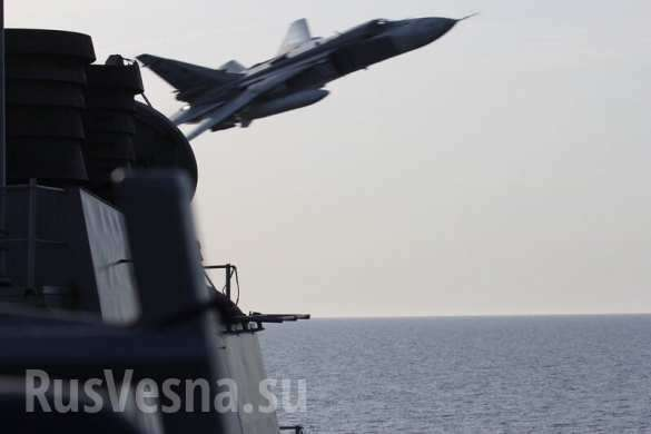 СРОЧНО: Самолёты ВКСРФначали запугивать ВМССШАуберегов Сирии | Русская весна