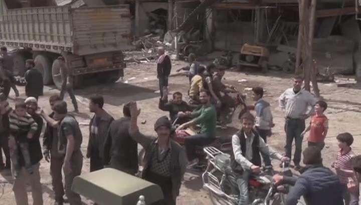 Жители сирийской Думы ничего не слышали про химатаку