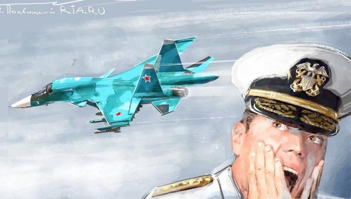 Атака русских ВКС на американский эсминец: фельетон-инсайд
