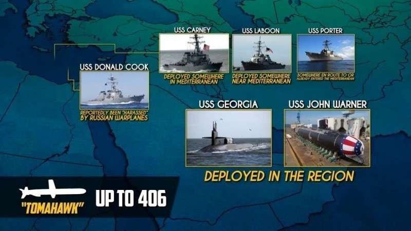 Сирия. ВМФ США стягивает силы, несмотря на предупреждения России