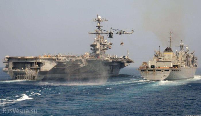 Атомный авианосец Труман иракетные крейсера ВМССШАплывут в Сирию