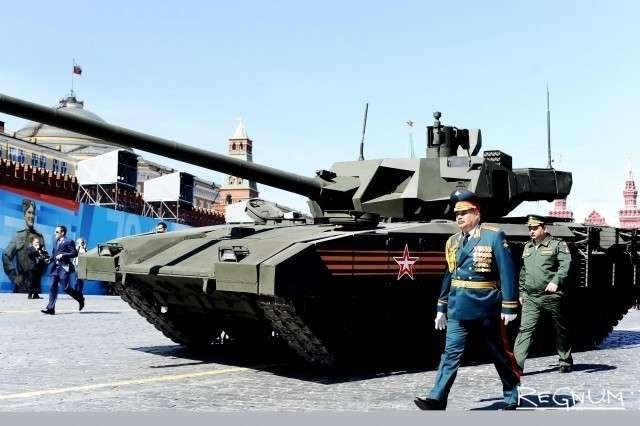 Танк «Армата». Парад Победы на Красной площади в Москве. 9 мая 2015 года