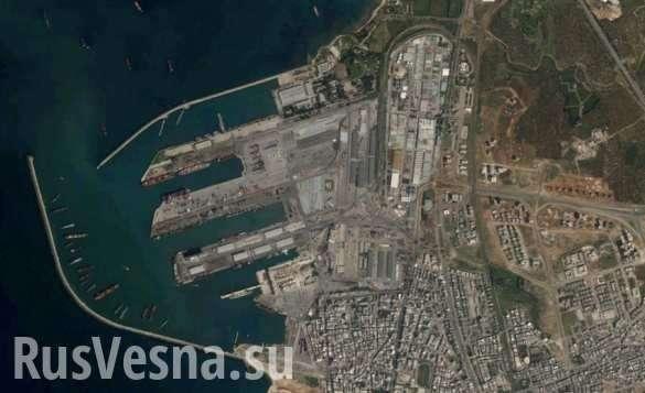 Сирийский экспресс: корабль-гигант разгрузился под дымовой завесой в Тартусе | Русская весна