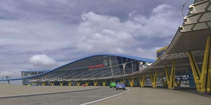 Фоторепортаж: журналистам показали очередной этап появления аэровокзала вЮжно-Сахалинске