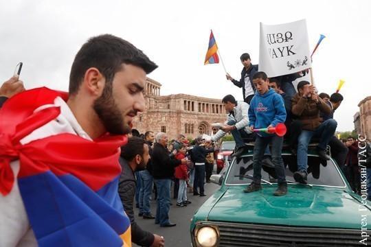 Цветная революция в Армении подходит к опасной черте