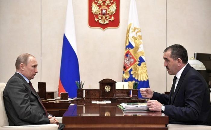 Владимир Путин провёл встречу сглавой Ингушетии Юнус-Беком Евкуровым