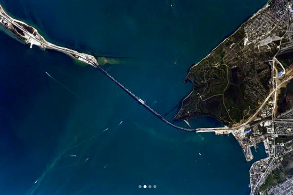 Крымский мост сфотографировали из Международной космической станции