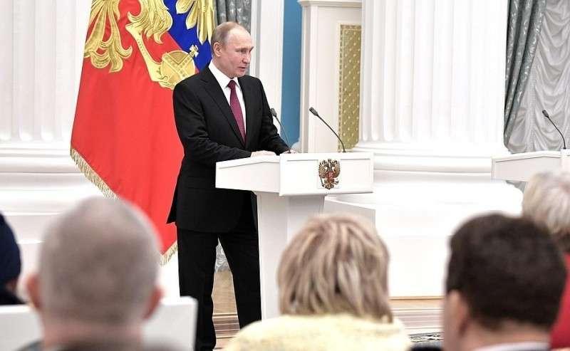 Нацеремонии награждения медалями «Герой Труда Российской Федерации».