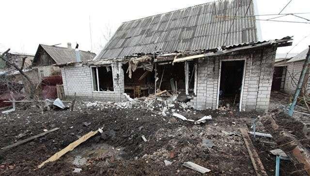 Частный жилой дом в городе Ясиноватая, пострадавший в результате обстрела
