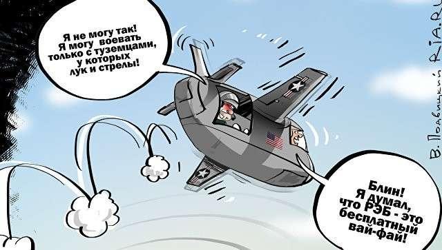 В Сирии самолёты США не могут воевать из-за РЭБ – жалуется Пентагон