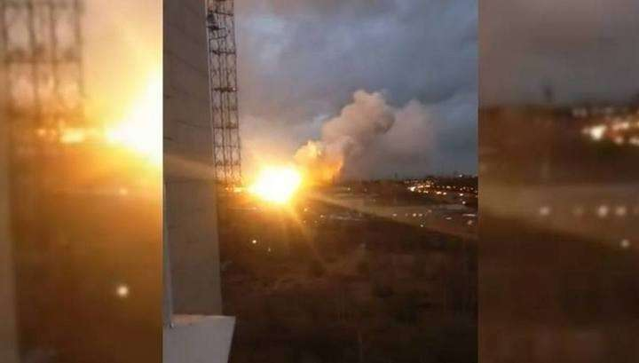 Москва: мощный взрыв при пожаре на авиазаводе в Балашихе