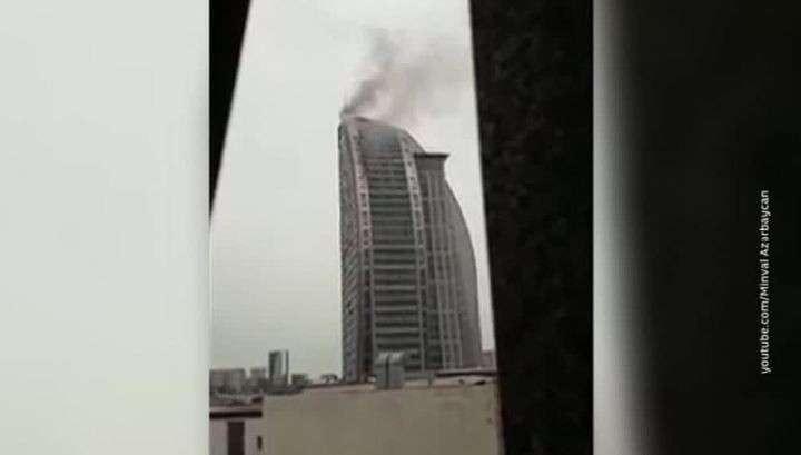 В Баку Trump Tower вспыхнул второй раз за день, огонь распространился по всей высоте