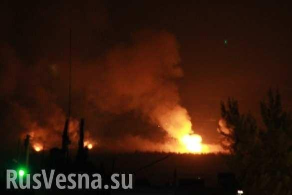 Огненный ад: последствия ночного авиаудара по секретному объекту в Сирии