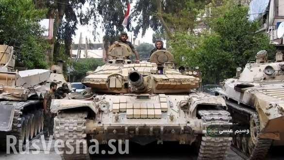 Сирия: ВКС и армия обрушили на ИГИЛ тонны бомб, пехота рвётся сквозь руины Ярмука