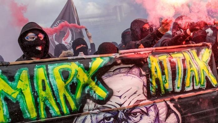 Первомайский погром в Париже: французы против трудовых реформ дружка Ротшильдов Макрона