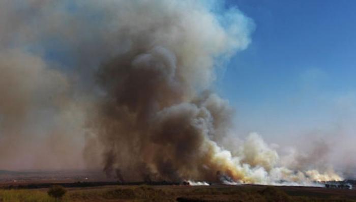 В харьковской Балаклее вновь загорелся склад боеприпасов слышны взрывы